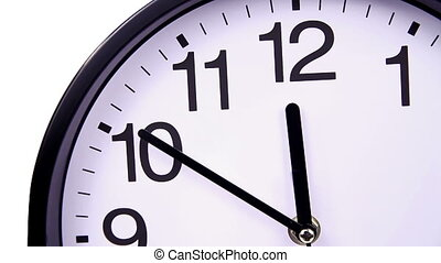 clock on a white 00,00 close-up TimeLapse - Wall clock on a...