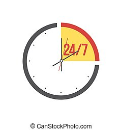 Clock on a white background.