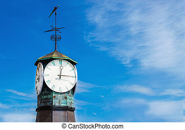 Clock on Aker Brygge in Oslo, Norway