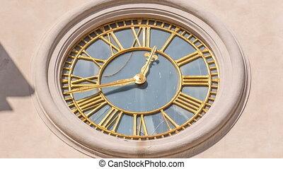 Clock on Duomo di San Pancrazio Martire in beautiful town of...