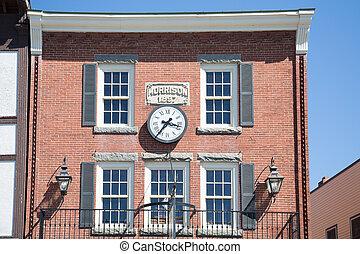 Clock on Old Morrison Building - A clock on the old Morrison...