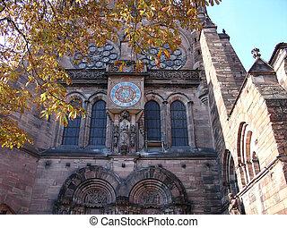 Clock on the castle