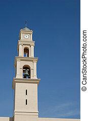 Clock on the chapel