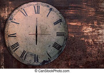 clock on the old iron.