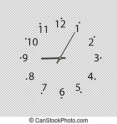 Clock On Transparent Background