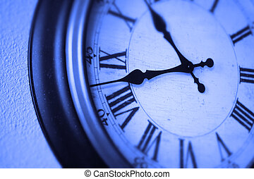 Clock on Wall Telling Time Passage of Hours
