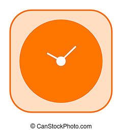 Clock orange icon