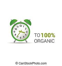 clock organic green vector