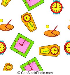 Clock pattern, cartoon style