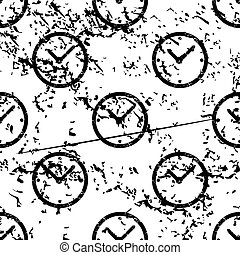 Clock pattern, grunge, monochrome