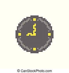 clock pixel icon