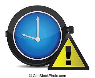 Clock Reminder Icon illustration design over a white ...