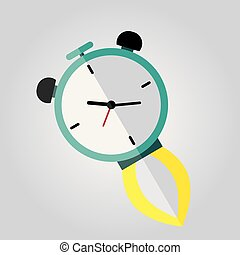Clock Rocket Icon. Vector illustration. Eps 10.