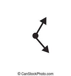 Clock rotation arrows arrowheads icon for mobile concept and web design. Time sync simple Symbol, logo illustration. Stock Vector illustration isolated on white background