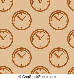 Clock. Seamless pattern.