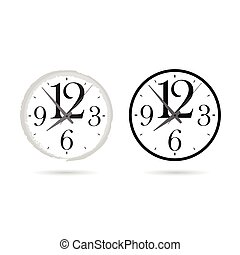 clock set cartoon ticking illustration on white