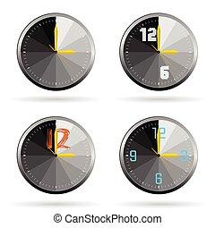 clock set color vector illustration