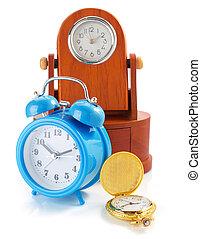 clock set isolated on white