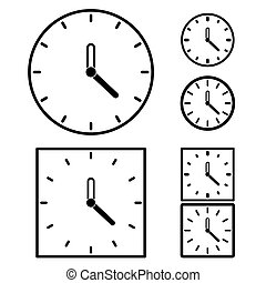 clock set on white background