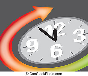 clock showing 5 minutes to 12 - clock showing five minutes...