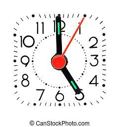 Clock showing 5 o'clock