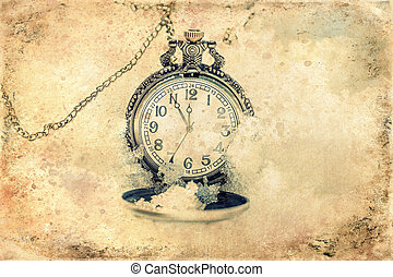 Clock showing five minutes to twelve. Time to stop and ...