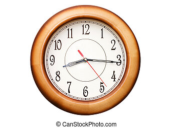 clock showing time about nine isolated