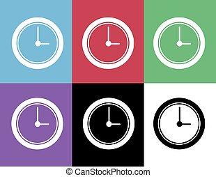 Clock Silhouette Colors