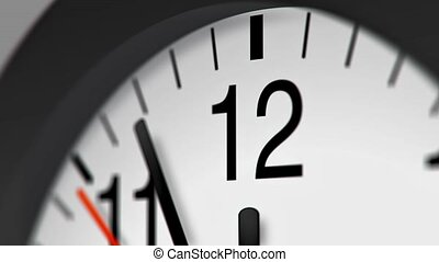 Clock Stock Video for use in presentations, manuals, design,...