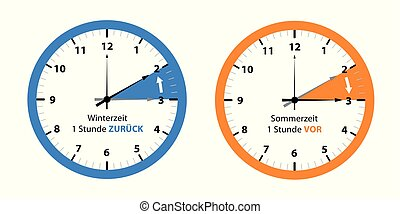 clock switch to summer time and to winter time reminder