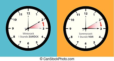 clock switch to summer time and to winter time set