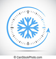 clock switch to winter time abstract