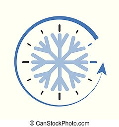 clock switch to winter time simple vector