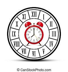 Clock Symbol. Vector Time Icon.