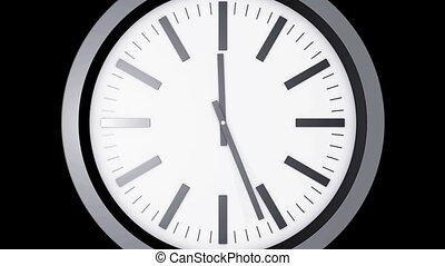 Clock ticking fast - Time lapse