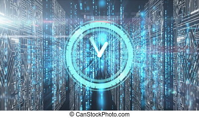 Clock ticking with computer circuit over data processing ...