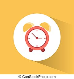 clock time alarm watch vacation vector illustration eps 10