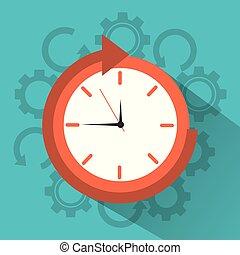 clock time around arrow concept