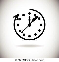 Clock Time Black Web Icon