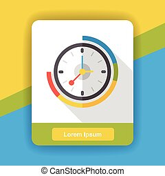 clock time flat icon