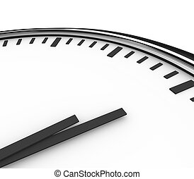 Clock Time Hour Hands Blank Copyspace for Your Message