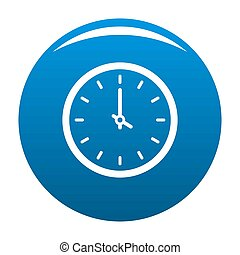 Clock time icon blue