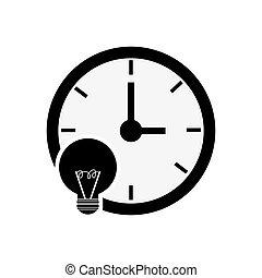 clock time icon design