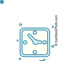 clock time icon vector design