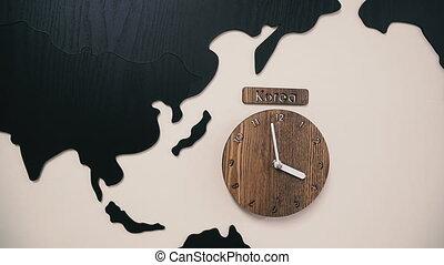 Clock time in Seoul. South Korea