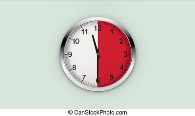 clock 	 time interval - clock 	