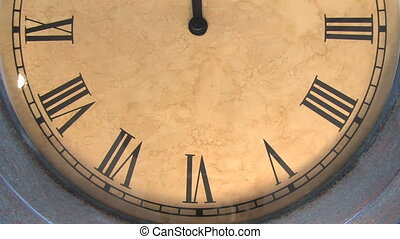 Clock Time Lapse 1 - Extra fast time lapse of a clock with...