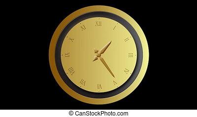 Clock time lapse loop