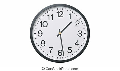 Clock Time Lapse - Time lapse of twelve hours on clock, ...