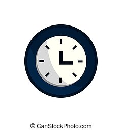 clock time office work business equipment icon